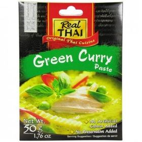 Real Thai Green Curry Paste Packet, 50g - Pack of 2