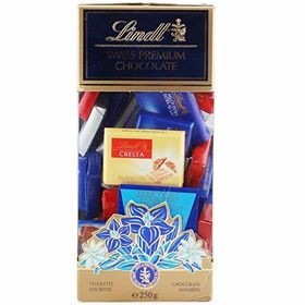 Lindt Napolitains, Assorted, 250g and Silver Plated Coin