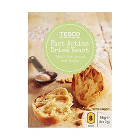 Tesco Fast Action Dried Yeast, 56g ( 8 x 7g Sachets)