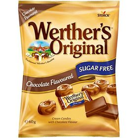 Storck Werther's Original Chocolate Candies Sugar Free, 60g