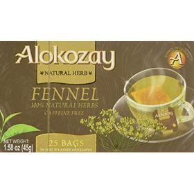 Alokozay Fennel Tea, Caffeine-Free, 25 Tea Bag, 45g