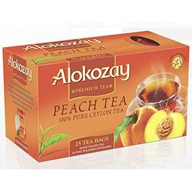 Alokozay Peach Pure Ceylon Tea 25 Tea Bags, 50g