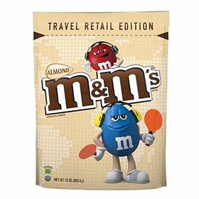 Mars Almond Pouch, 283.5 g and Silver Plated Coin
