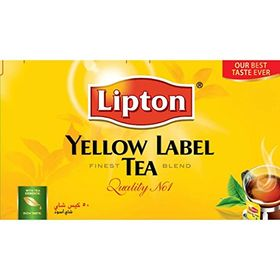 Lipton Yellow Label Tea Finest Blend Quality No 1 Black Tea, 50 Tea Bags