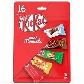 Nestle Kitkat Mini Moments 16 Pcs, 272.5g (Milk Chocolate, Caramel, Hazelnut, Mocha) and Silver Plated Coin