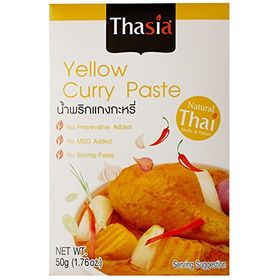Thasia Yellow Curry Paste, 50g (Pack of 2)