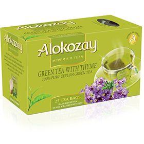 Alokozay Green Tea with Thyme 25 Tea Bag, 50g