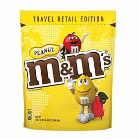 M&M's Peanut Pouch 396.9 GMS and Silver Plated Coin