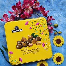 Sapphire Almonds Wrapped in Creamy Milk Choco, 200gm