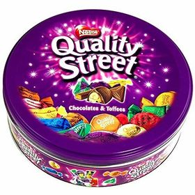 Nestle Street Chocolates and Toffees in Tin Box 480 Grams and Silver Plated Coin