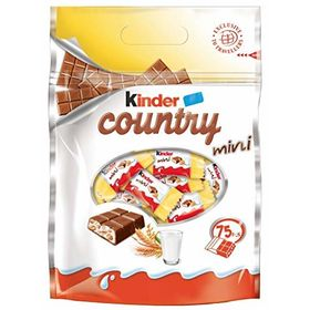 Kinder Country Mini 420g and Silver Plated Coin