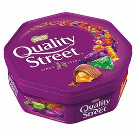 Nestle Quality Street Assorted Milk and Dark Chocolate and Toffees Tub, 720g