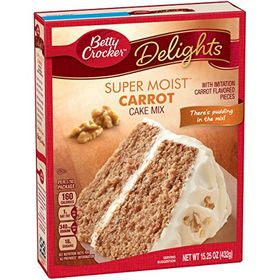 Betty Crocker Delights Super Moist Carrot Cake Mix - 432g (15.25oz)