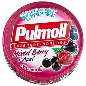 Pulmoll Sugar Free Lozenges Mixed Berry + Acai, 45g
