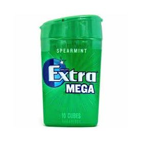 Wrigley's Extra Mega Spearmint SugarFree Gum 10 Cubes Bottles 22g
