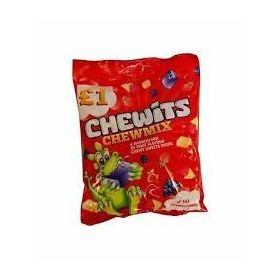 Chewits Xtreme Chewmix Fruit Flavour Chewy Sweet Inside Candy Packet 125g