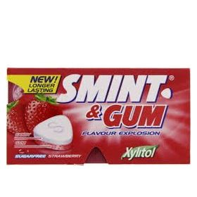 Smint Sugar Free Strawberry Gum (Pack of 2), 13.9 g