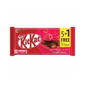Kitkat Raspberry Blast Wafer Finger Covered in Milk Chocolate 6 Bar, ( 6 X 19.5g ), 117g
