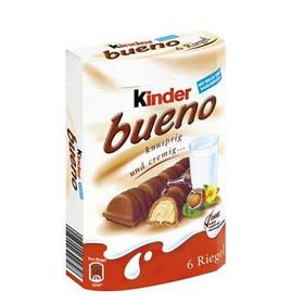 Kinder Bueno Milk & Hazelnut 6 Bars Box, 129g