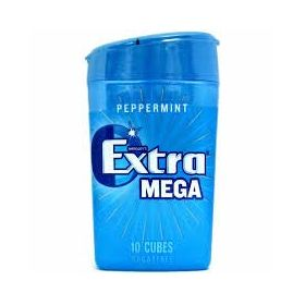 Wrigley's Extra Mega Peppermint SugarFree Gum 10 Cubes Bottles 22g