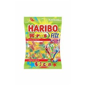 Haribo Worms Fizz Sour Fruit Jelly Candy ( Halal ), 70g