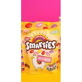 Nestle Smarties Llama Edition Milk Chocolate in Sugar Shell Packet, 105g