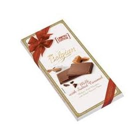 Belgian Milk Chocolate with Salted Caramel Bar 100g