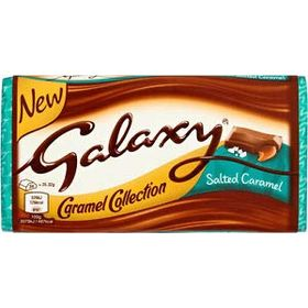 Galaxy Caramel Collection Salted Caramel Chocolate Bar, 135g