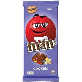 Mars M&M's Cookies Chocolate Bar, 150g