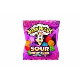 Warhead Sour Chewy Cubes Assorted Candy (Pack of 5), 22g