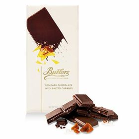 Butlers 70% Dark Salted Caramel Chocolate Bar, 100g