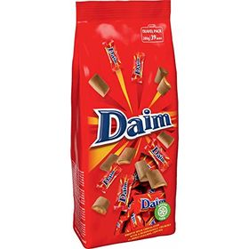 Mondelez Daim Milk Chocolate with Almond Caramel Centre Minis Bags, 280g