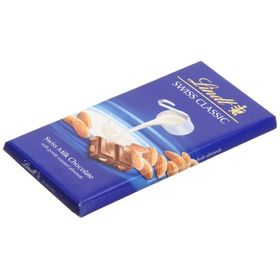 Lindt Swiss Classic Bar Chocolate, Almond, 100g