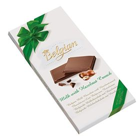 Belgian Milk Chocolate With Hazelnut Crunch Bar 100g