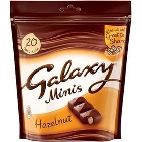Galaxy Minis Hazelnut 20 bars 250 gms