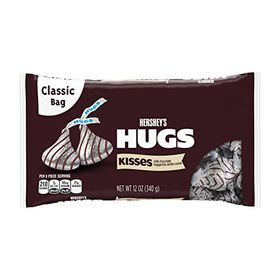 Hershey's Kisses Hugs Milk Chocolate Hugged by White Creme, 340g