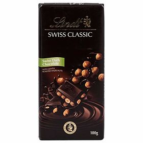 Lindt Swiss Classic Dark Chocolate, Hazel Nut, 100g