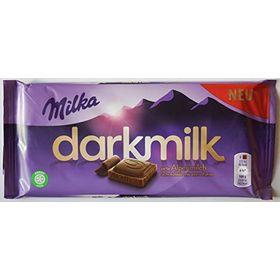 Milka Dark Milk Zarte Alpenmilch Schokolade mit Extra kakao ( Delicate Alpenmilk Chocolate with Extra Cocoa Chocolate Bar ), 85g