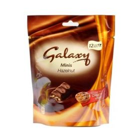 Galaxy Minis Hazelnut 12 Bars 150g