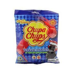 Chupa Chups Mini Cola & Strawberry Flavour Lollipops 10 Pcs Packet, 100g