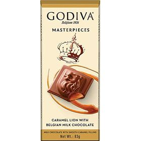 Godiva Masterpiece Caramel Lion with Belgian Milk Chocolate Bar, 83g