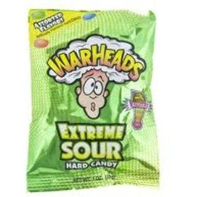 Warheads Extreme Sour Hard Candy 5 Assorted Flavors 28gm (Pack of 3)