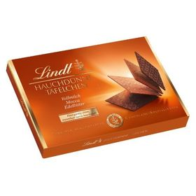 Lindt Hauchdunne Tafelchen Vollmilch Mocca Edelbitter (Milk Mocha Edelbitter Chocolate Thins) Box, 125g