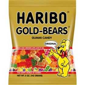 Haribo Gold Bears (Halal) Gummy Candy, 80g