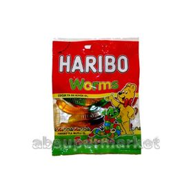 Haribo Worms (Halal) Gummy Candy, 80g