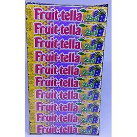 Fruittella 2 in 1 Lemon Grape Flavour Chewy Candy 20 Stick Box ( 20 X 32.4g ), 648g