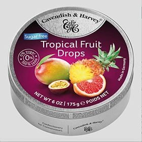 Cavendish & Harvey Sugar free Tropical Fruit Drops, 175g