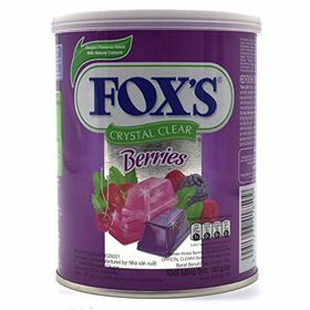 Nestle (Fox's) Crystal Clear Mix Berries Flavoured Candy Tin, 180g