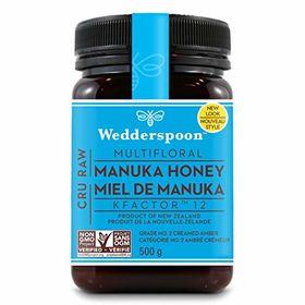 Wedderspoon 100% Raw Manuka Honey KFactor 12, 500g