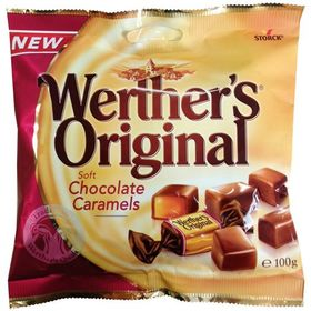 Werther's Original Soft Chocolate Caramels Candy 100g
